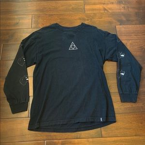 Huf Long Sleeve T-Shirt with Sleeve Detailing
